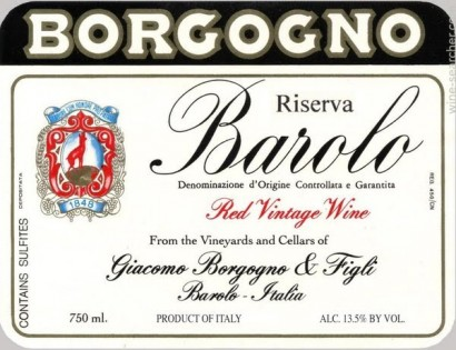 3425-Borgogno Giacomo & Figli Wine Dinner – Tuesday 10th January 2017, 7pm at Bow Lane