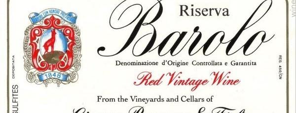 Borgogno Giacomo & Figli Wine Dinner – Bow Lane